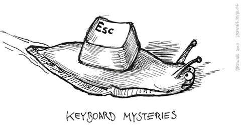 Keyboard Mysteries, (c) 2010 Ingmar Drewing