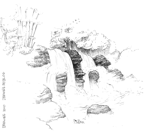 Imaginary Waterfall, (c) 2010 Ingmar Drewing