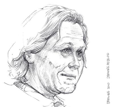 Sketching Gary Oldman, (c) 2010 Ingmar Drewing