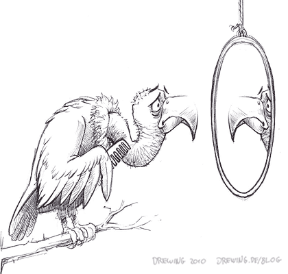 Keep Mirrors Out Of Bird Cages, (c) 2010 Ingmar Drewing
