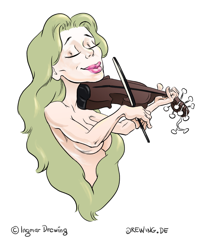 violin, comic drawing, sketch, colored, manga studio