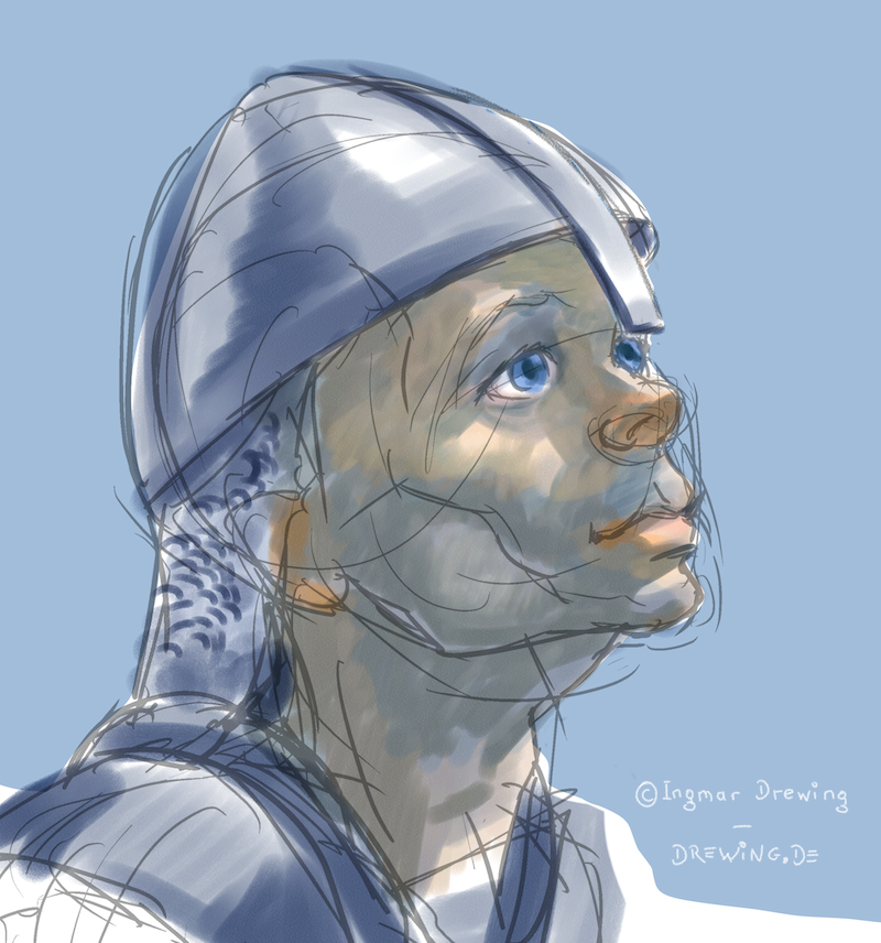 sketch knight using digital water color in painter 12