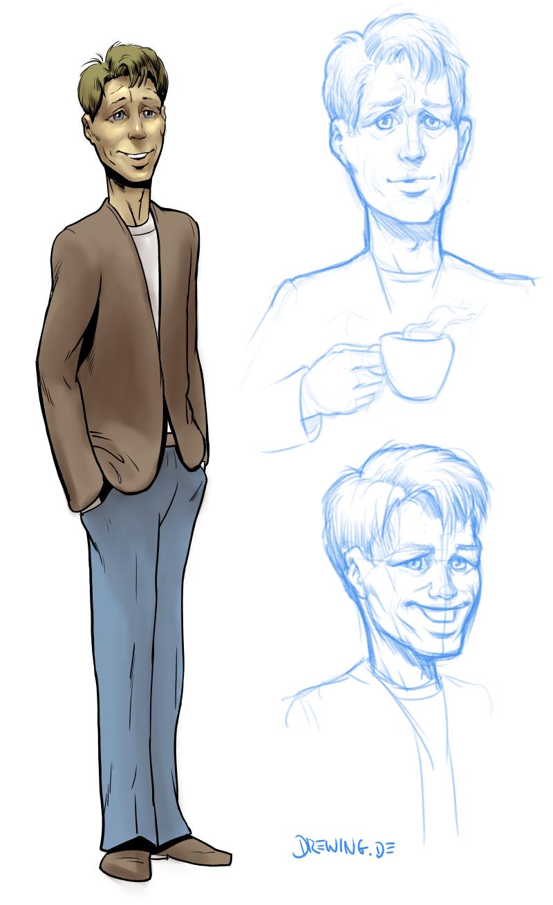 sidekick character, drawing by Ingmar Drewing