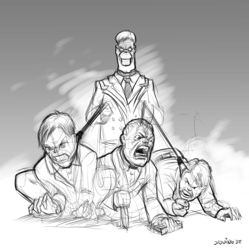 Management, Sketch by Ingmar Drewing