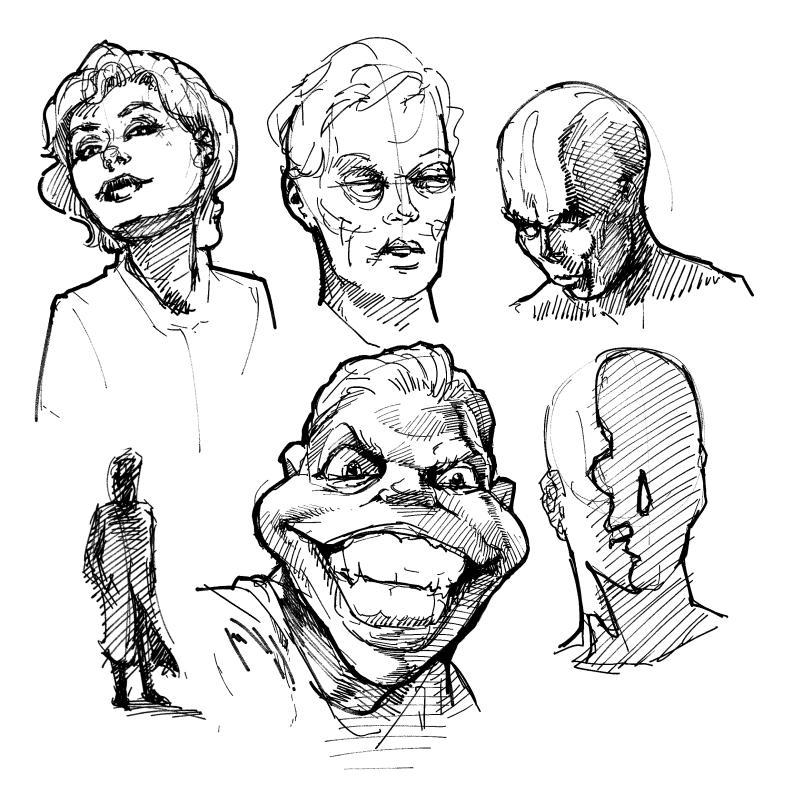 Digital Sketch / Drawing by Ingmar Drewing